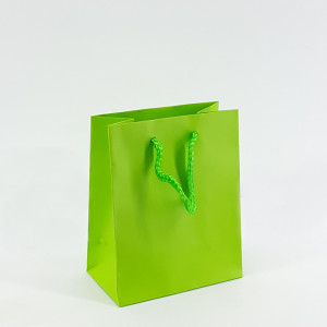 Shopper shop 12x15 verde acido (12pz)