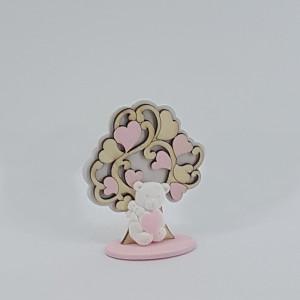 Albero con orsetto h.8 rosa (pz.6)