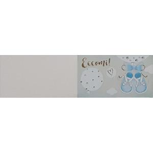 B-Cartoncino bomboniera battesimo azzurro (100 pz)