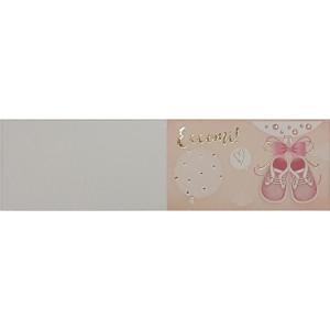 B-Cartoncino bomboniera battesimo rosa (100 pz)