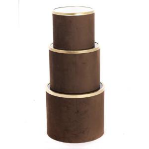 Scatola cart.vetro d.25 marrone (set 3)