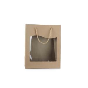 Shopper con finestra 26x32 avana (pz.8)