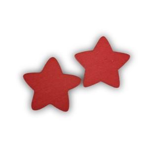 Stella legno cm.1,9 rosso (pz.400)