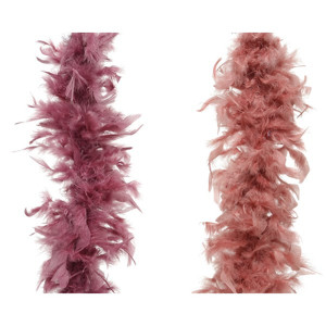 Boa piume cm.184 rosa-camel